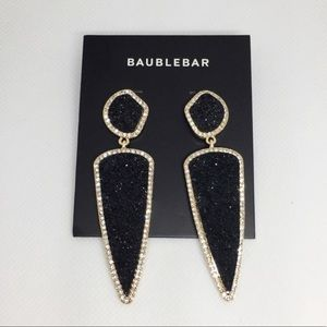 NWT Anthro BaubleBar Black Stone Drop Earrings
